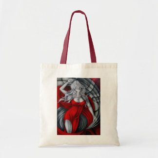Damisela en rojo bolsa tela barata