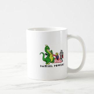 damisela y dragón tazas de café