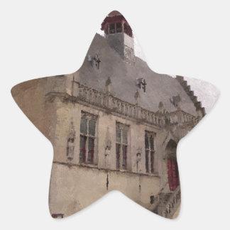 Damme Belgium Star Sticker