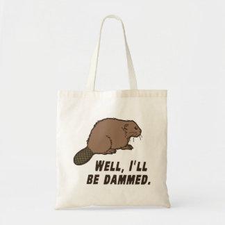 Dammed Beaver Canvas Bags