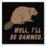Dammed Beaver Photo Print