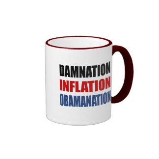 DAMNATION, INFLATION, OBAMANATION COFFEE MUGS