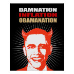 DAMNATION. INFLATION. OBAMANATION POSTER