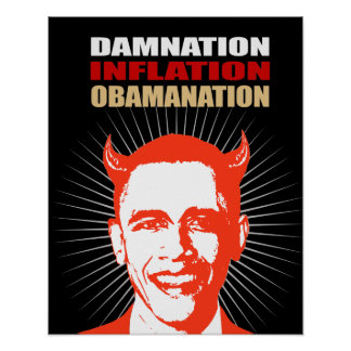 DAMNATION. INFLATION. OBAMANATION POSTER