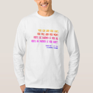"""Damn'd"" Rainbow QuoTee for Word Nerds by Aleta T-Shirt"