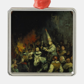 Damned by the Inquisition Square Metal Christmas Ornament