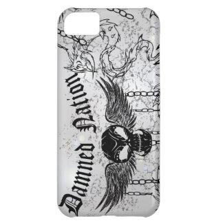 Damned Nation Black Skull Case For iPhone 5C