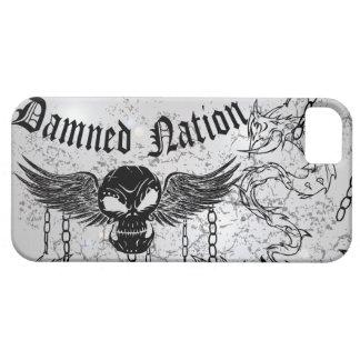 Damned Nation Black Skull iPhone 5 Cover