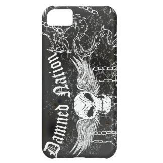 Damned Nation White Skull Cover For iPhone 5C