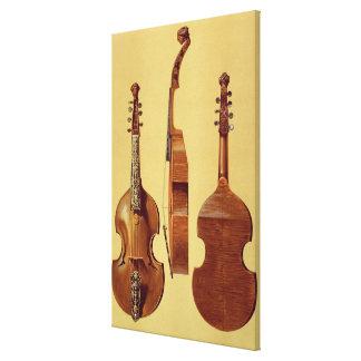 d'Amore de la viola, siglo XVIII, de 'Instrum musi Impresión En Lienzo