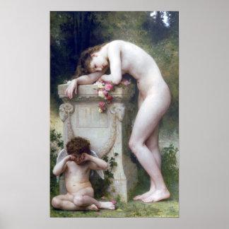 d'Amour de Bouguereau - de Douleur Póster