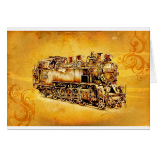 Dampflok locomotive vintage F032 Card