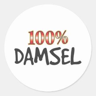 Damsel 100 Percent Sticker