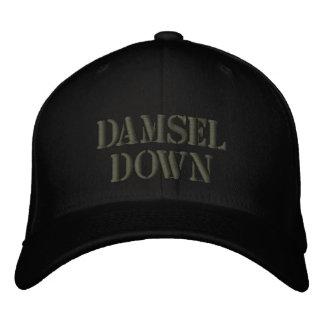 damsel down embroidered baseball cap