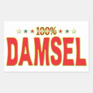 Damsel Star Tag Rectangular Stickers
