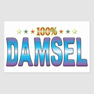 Damsel Star Tag v2 Rectangle Stickers