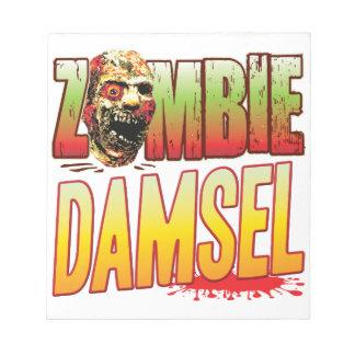 Damsel Zombie Head Notepad