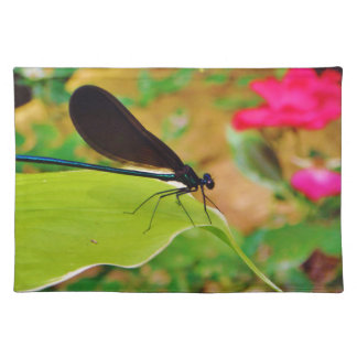 Damselfly and Rose Placemats