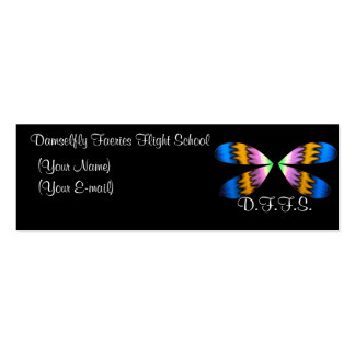 Damselfly Faeries Profile Card Business Card Template