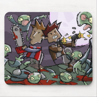 Dan and Ben vs. Some Zombies Mouse Pad