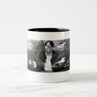Dan Aykroyd Believes in Aliens Two-Tone Coffee Mug