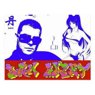 Dan Bizet Picture GraffDrawCoffee Manga-Tai Marina Postcard