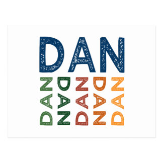 Dan Cute Colorful Post Card