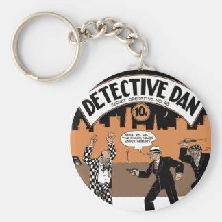 Dan detective, una historia en dibujos animados llavero redondo tipo pin