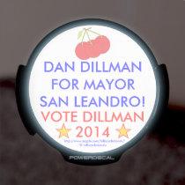 DAN DILLMAN MAYOR SAN LEANDRO! VOTE DILLMAN 2014 LED CAR WINDOW DECAL