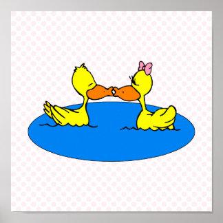 Dan & Din Duck Poster