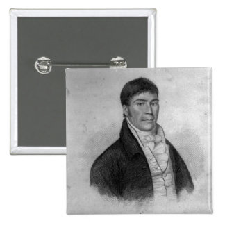 Dan Donnelly, engraved by Percy Roberts 2 Inch Square Button