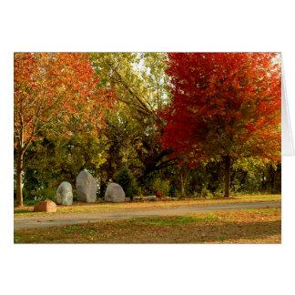 Dan Fogelberg Memorial in Fall Card