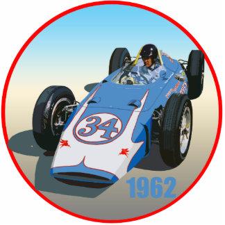 Dan Gurney Indy 1962 Fotoescultura Vertical