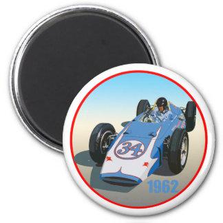 Dan Gurney Indy 1962 Imán Redondo 5 Cm