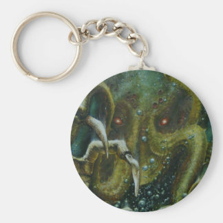 Dan Henk Cthulhu Basic Round Button Keychain