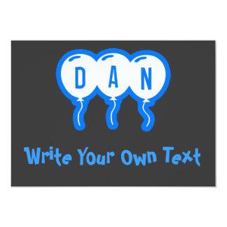 """Dan Invitación 5"""" X 7"""""""