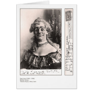 Dan Leno Greeting Card