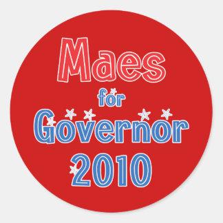 Dan Maes for Governor 2010 Star Design Round Sticker