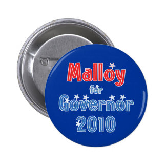 Dan Malloy para el diseño de la estrella del gober Pin Redondo 5 Cm