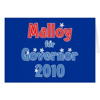 Dan Malloy para el diseño de la estrella del gober Tarjeta De Felicitación