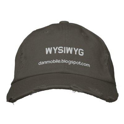 Dan Mobile WYSIWYG Embroidered Hat