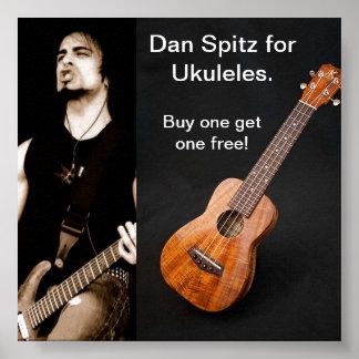 Dan Spitz for Ukuleles Poster