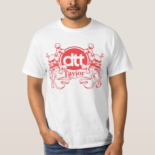 Dan Taylor Throws Crest (red) T-Shirt