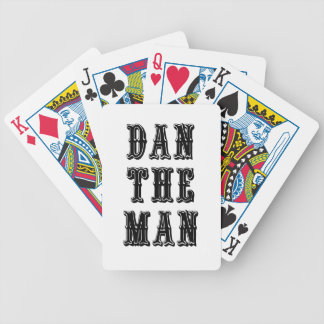 Dan the Man Bicycle Playing Cards