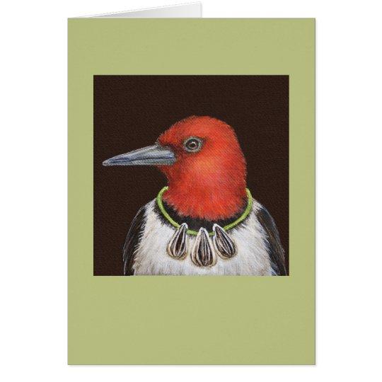 Dan the red-headed woodpecker card