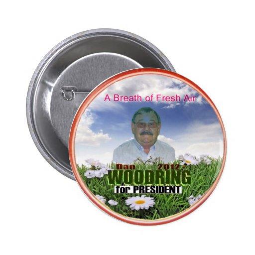 Dan Woodring para el presidente 2012 Pins