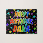 "[ Thumbnail: ""Dana"" First Name, Fun ""Happy Birthday"" Jigsaw Puzzle ]"