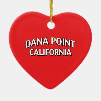 Dana Point California Adorno Navideño De Cerámica En Forma De Corazón