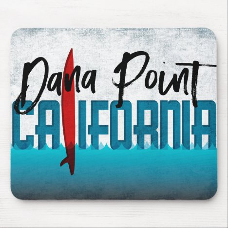 Dana Point California Surfboard Surfing Mouse Pad