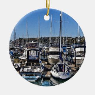 Dana Point Harbor Ceramic Ornament